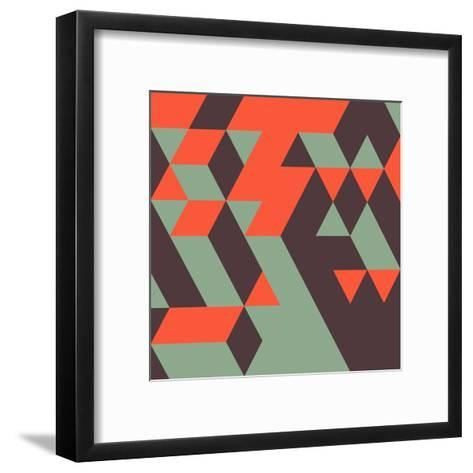 Abstract Geometrical 3D Background. Can Be Used for Wallpaper, Web Page Background, Web Banners.-Login-Framed Art Print