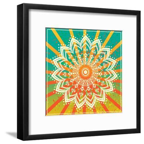 Ornament Black White Card with Mandala. Geometric Circle Element Made in Vector. Perfect Cards for-An Vino-Framed Art Print
