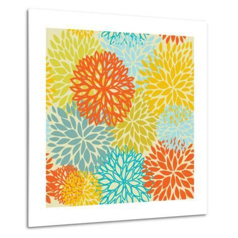 Floral Seamless Pattern-mcherevan-Metal Print