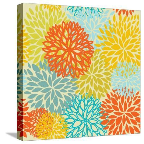 Floral Seamless Pattern-mcherevan-Stretched Canvas Print