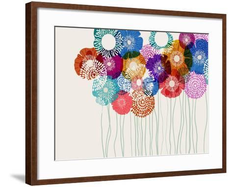 Colorful Flower Background, Eps10 Vector-Anita Ponne-Framed Art Print
