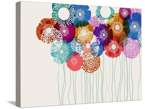 Colorful Flower Background, Eps10 Vector-Anita Ponne-Stretched Canvas Print