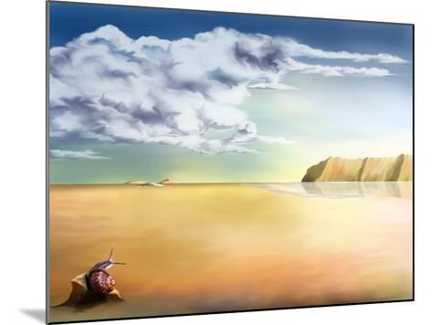 An Original Stylized Illustration of a Surreal Landscape Background-paul fleet-Mounted Art Print