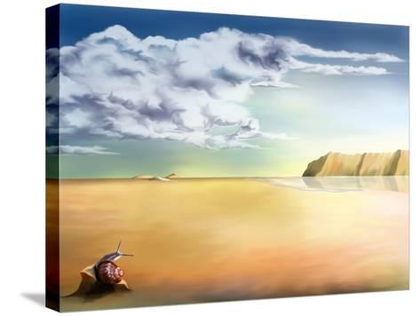 An Original Stylized Illustration of a Surreal Landscape Background-paul fleet-Stretched Canvas Print