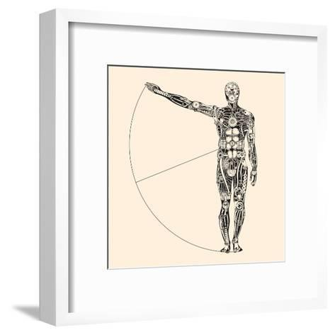 Ideal Human Proportion that Governs the Universe. the Making of Humans.-RYGER-Framed Art Print