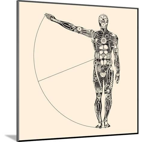 Ideal Human Proportion that Governs the Universe. the Making of Humans.-RYGER-Mounted Art Print
