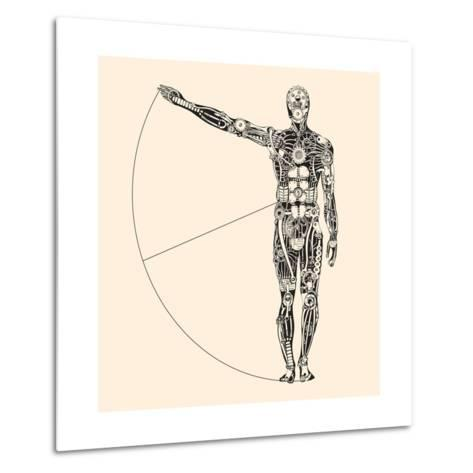 Ideal Human Proportion that Governs the Universe. the Making of Humans.-RYGER-Metal Print