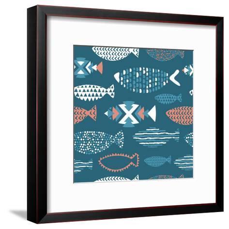 Tribal Fish Pattern-Tasiania-Framed Art Print
