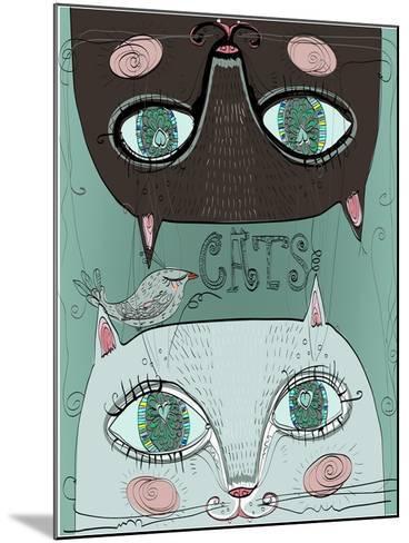 Portraits of Two Cute Cats-Elena Barenbaum-Mounted Art Print