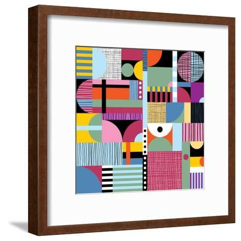 Scandinavian Colorful Pattern-Dmitry Karlov-Framed Art Print