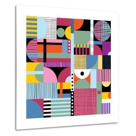 Scandinavian Colorful Pattern-Dmitry Karlov-Metal Print