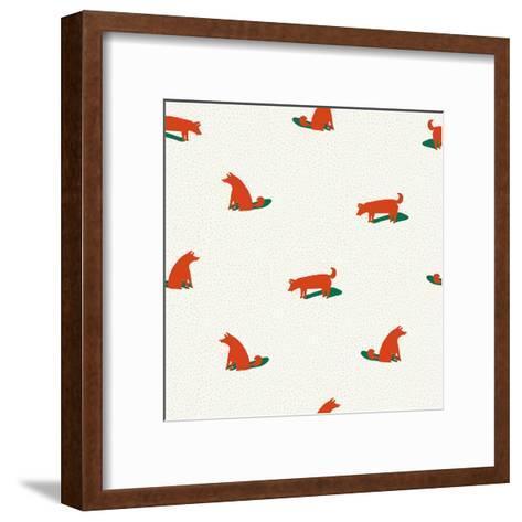 Seamless Dog Pattern-Tasiania-Framed Art Print