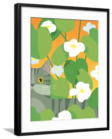 Cat Look 11-Artistan-Framed Art Print