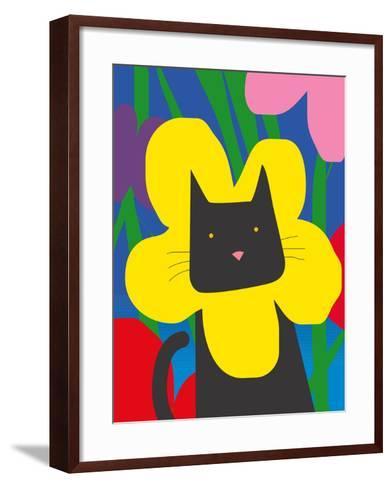 Cat Look 1-Artistan-Framed Art Print