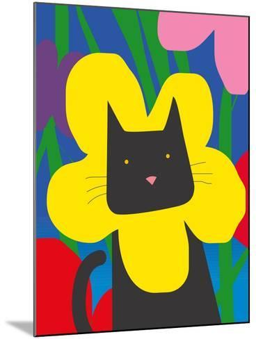 Cat Look 1-Artistan-Mounted Art Print