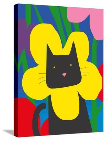 Cat Look 1-Artistan-Stretched Canvas Print