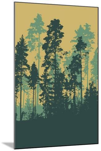 Silhouettes of Forest-jumpingsack-Mounted Art Print