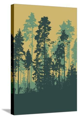 Silhouettes of Forest-jumpingsack-Stretched Canvas Print