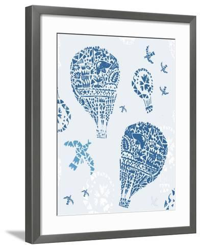 Image of Balloons in the Style of Painting on Tiles-Dmitriip-Framed Art Print