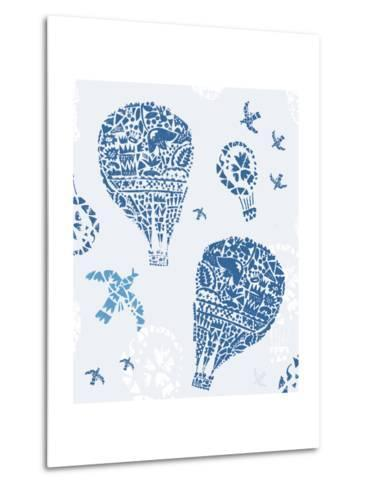 Image of Balloons in the Style of Painting on Tiles-Dmitriip-Metal Print
