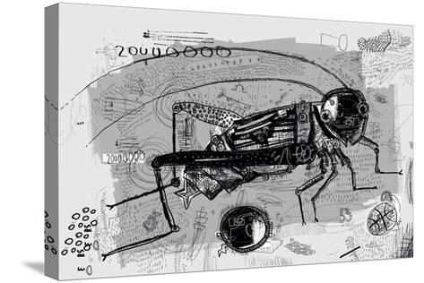 Symbolic Image of Grasshopper Which is Composed of Many Parts-Dmitriip-Stretched Canvas Print