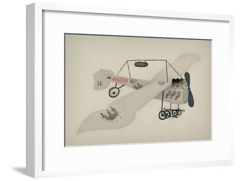 Symbolic Image of a Sport Airplane Which Has a Propeller-Dmitriip-Framed Art Print