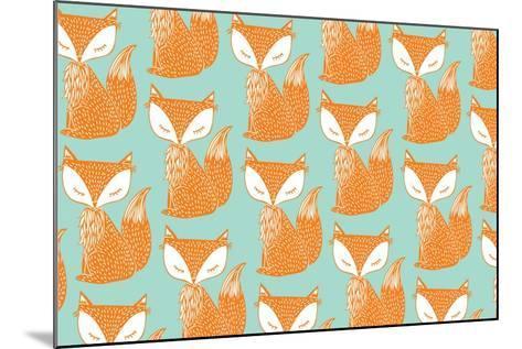 Fox Background Vector/Illustration- lyeyee-Mounted Art Print