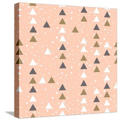 Pink Hipster Geometrical Seamless Vector Pattern.-Alenka Karabanova-Stretched Canvas Print