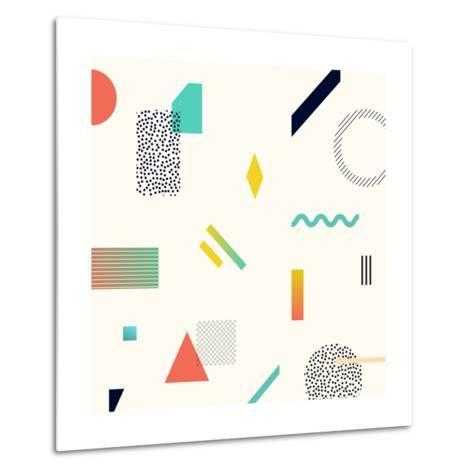 Chaotic Geometry Background. Minimal Futuristic Design. Suitable for Posters,Covers,Prints Etc.- Plasteed-Metal Print