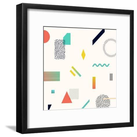 Chaotic Geometry Background. Minimal Futuristic Design. Suitable for Posters,Covers,Prints Etc.- Plasteed-Framed Art Print