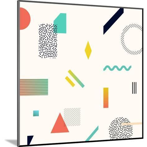 Chaotic Geometry Background. Minimal Futuristic Design. Suitable for Posters,Covers,Prints Etc.- Plasteed-Mounted Art Print