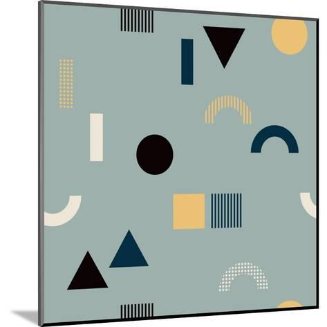 Pattern with Geometrical Shapes-Iliveinoctober-Mounted Art Print