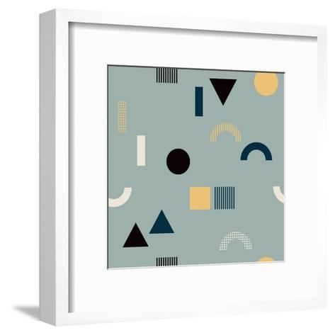 Pattern with Geometrical Shapes-Iliveinoctober-Framed Art Print