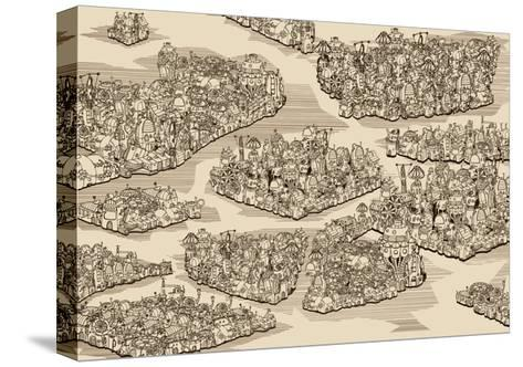 The History We Never Had. Map.-RYGER-Stretched Canvas Print