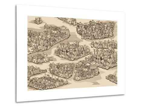 The History We Never Had. Map.-RYGER-Metal Print