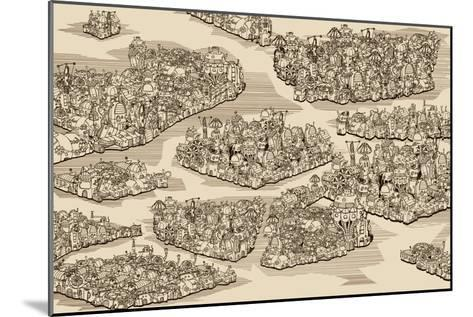 The History We Never Had. Map.-RYGER-Mounted Art Print