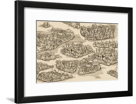 The History We Never Had. Map.-RYGER-Framed Art Print