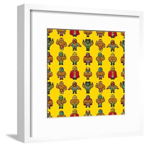 Wrestler Pattern-notkoo-Framed Art Print