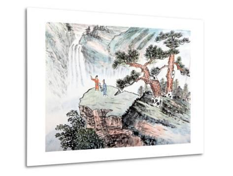 Traditional Chinese Painting , Landscape-aslysun-Metal Print