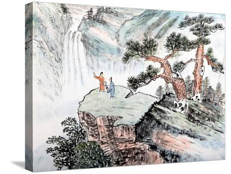 Traditional Chinese Painting , Landscape-aslysun-Stretched Canvas Print