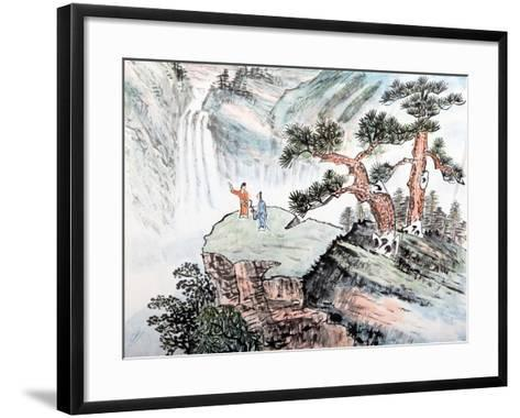 Traditional Chinese Painting , Landscape-aslysun-Framed Art Print