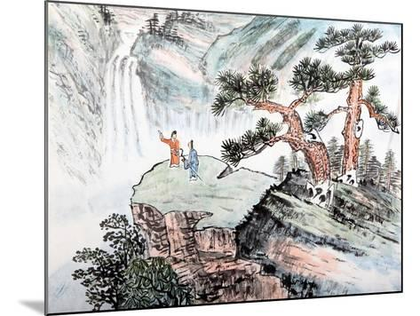 Traditional Chinese Painting , Landscape-aslysun-Mounted Art Print