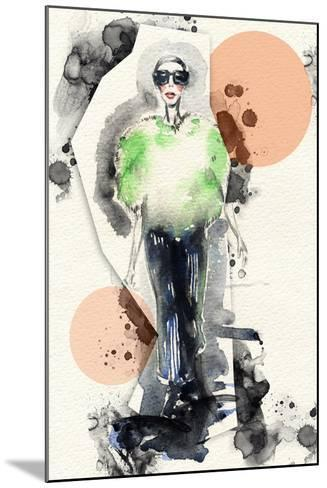Woman . Hand Painted Fashion Illustration-Anna Ismagilova-Mounted Art Print