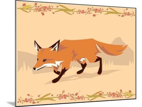 Fox in a Decorative Composition-Artistan-Mounted Art Print