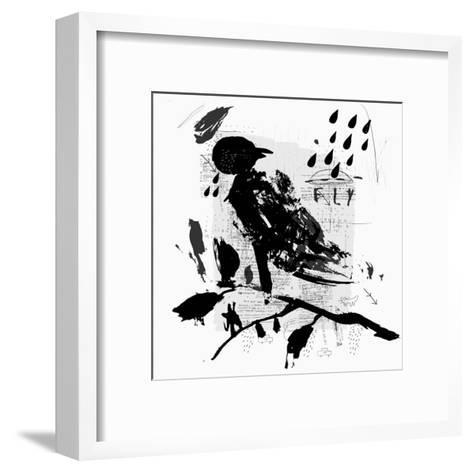 Symbolic Image of a Bird in the Style of Graffiti-Dmitriip-Framed Art Print
