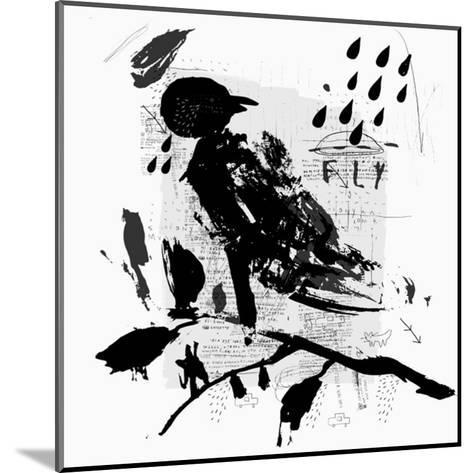 Symbolic Image of a Bird in the Style of Graffiti-Dmitriip-Mounted Art Print