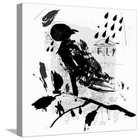 Symbolic Image of a Bird in the Style of Graffiti-Dmitriip-Stretched Canvas Print
