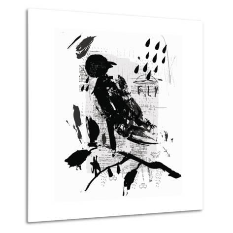 Symbolic Image of a Bird in the Style of Graffiti-Dmitriip-Metal Print