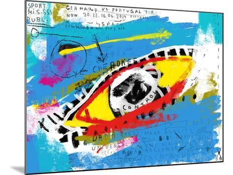 Symbolic Image of the Eye in Color-Dmitriip-Mounted Art Print
