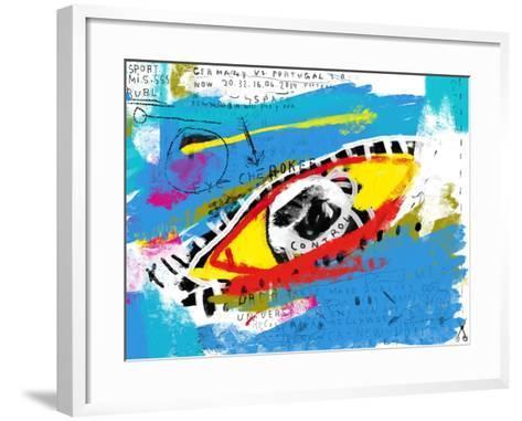 Symbolic Image of the Eye in Color-Dmitriip-Framed Art Print